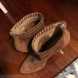 Shoes - Hand made Italian suede booties